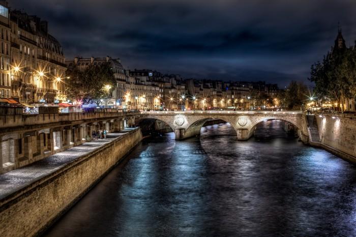 Сена ночью - Достопримечательности Парижа