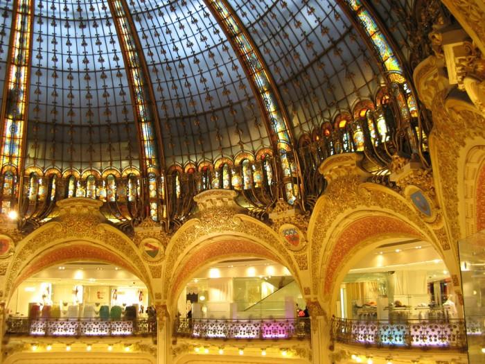 Опера? Нет! Всего лишь парижский универмаг (Galeries Lafayette | Olivier Bruchez | Flickr)