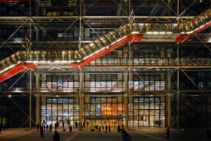 L'entrée du centre Georges Pompidou By dalbera on flickr
